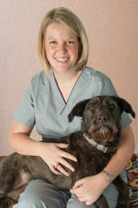 Veterinarian with her dog